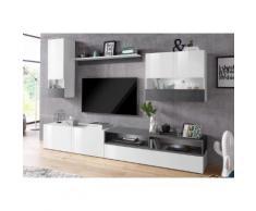 TECNOS Wohnwand »Negroni« weiß, Hochglanz-Fronten, FSC®-zertifiziert
