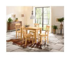 Home affaire Essgruppe beige, 160-199/80cm & 4er-Pack Stühle, »Madrid«, FSC®-zertifiziert