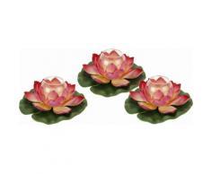 Kunstpflanze rosa, »Seerose auf Blatt mit Glas«, yourhome