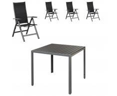 Gartenmöbel-Set Chicago/Las Vegas (90x90, 4 Stühle, 6-Postionen)