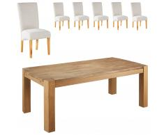 Essgruppe Goliath/Tom (100x200, 6 Stühle, beige)