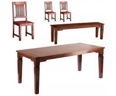 Essgruppe Cuba (90x178, 3 Stühle, 1 Bank)
