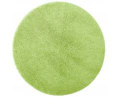 Microfaser-Badematte Uni de Luxe (Ø 60 cm, grün)