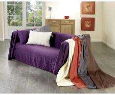 Sofaüberwurf Karo (250x270, braun)