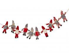Weihnachtsgirlande 10 Wichtel (2 m Länge)
