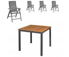 Gartenmöbel-Set San Francisco/California (89x89, 4 Stühle)