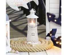 Kerzenhalter Leuchtturm (30 cm hoch, weiß)