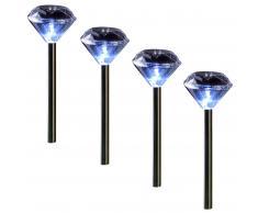 Solarleuchte Diamant (4er-Set)