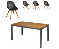 Gartenmöbel-Set San Francisco/Palmas (89x150, 4 Stühle, anthrazit)