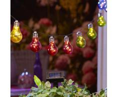 Solar-Lichterkette Glühbirne (bunt)