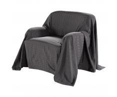 Sofaüberwurf Karo (180x250, anthrazit)