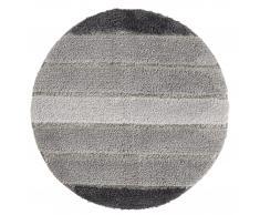 Badematte Stripe (ø 60 cm, grau)
