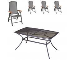 Gartenmöbel-Set Vega/Venus (90x150, 4 Stühle)