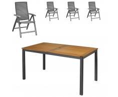 Gartenmöbel-Set San Francisco/California (89x150, 4 Stühle)