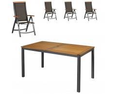 Gartenmöbel-Set San Francisco/Santiago (89x150, 4 Stühle)