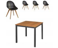 Gartenmöbel-Set San Francisco/Palmas (89x89, 4 Stühle, anthrazit)