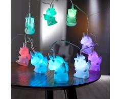LED-Lichterkette Einhorn (10 LEDs)