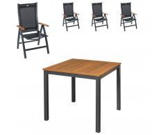 Gartenmöbel-Set San Francisco/Sun Garden Prestige (90x90, 4 Stühle)