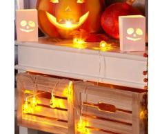 LED-Lichterkette Halloween Kürbis (batteriebetrieben)