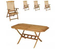 Gartenmöbel-Set Santa Fe (85x150, 4 Stühle)