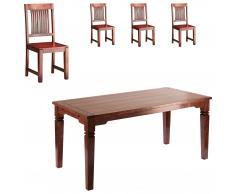 Essgruppe Cuba (140x90, 4 Stühle)