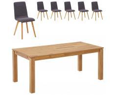 Essgruppe Royal Borg/Marstal (90x180, 6 Stühle, anthrazit)