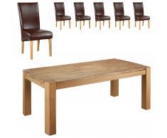 Essgruppe Goliath/Tom (100x200, 6 Stühle, braun)