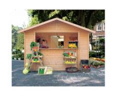Woodfeeling Kaufladen naturbelassen B 303 x T 210 cm, Größe 2, Karibu