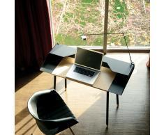 Miss Moneypenny Schreibtisch mit Schreibtischleuchte schwarz