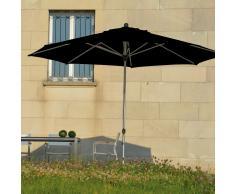 Lino Sonnenschirm schwarz