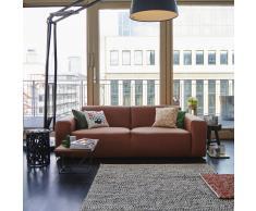 Wilna Sofa 3-Sitzer in Leder cognac