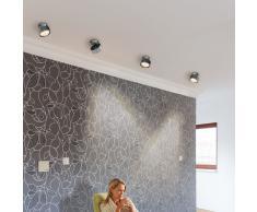 Puk Maxx Move LED Wand- und Deckenleuchte Linse chrom glänzend