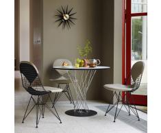 Wire Chair Stuhl DKR-2 mit Sitz- und Rückenkissen creme-nero neue Maße