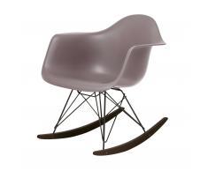 Eames Plastic Armchair RAR Schaukelstuhl mauve grau-schwarz