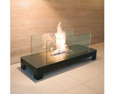 Floor Flame Ethanol Feuerstelle gebürstet