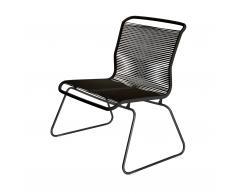 Panton One Lounge Sessel Indoor schwarz-schwarz