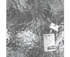 artverum® Glas-Magnetboard Edelmetall 48 x 48 shiny-silver