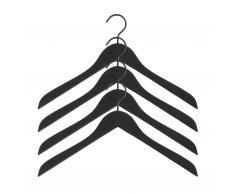 Soft Coat Kleiderbügel 4er-Set schwarz schmal