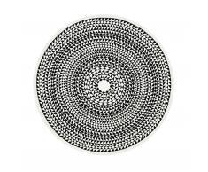 Geometric Tischdecke schwarz