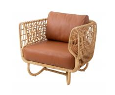 Nest Rattan Lounge Sessel