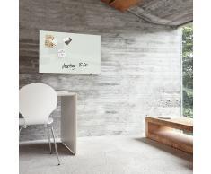 artverum® Glas-Magnetboard 78 x 48 superweiss