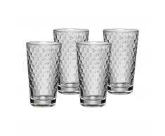 Honeycomb Latte Macchiato Glas 4er-Set