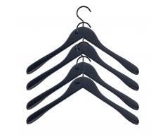 Soft Coat Kleiderbügel 4er-Set schwarz breit