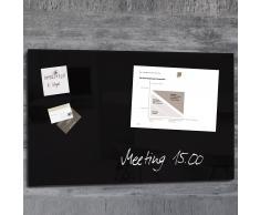 artverum® Glas-Magnetboard 78 x 48 schwarz