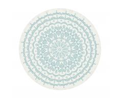 Lace Tischdecke grau/blau