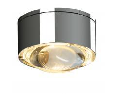 Puk One II LED Wand- und Deckenleuchte Linse chrom glänzend