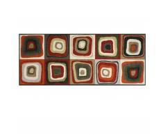 Modern Square Sauberlaufmatte 190x75 rot-schlamm