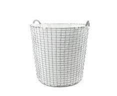 Korbo Classic Wäschekorb edelstahl 65 weiß