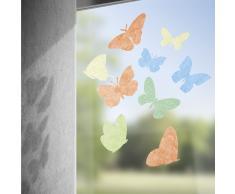 Gecko in the Box Textile Fensteraufkleber Farfalla Schmetterling-Motiv 16-tlg.
