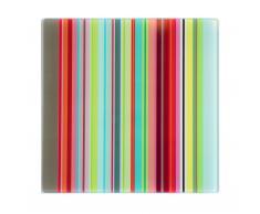 Küchenglasplatte Schneidebrett und Untersetzer Stripes
